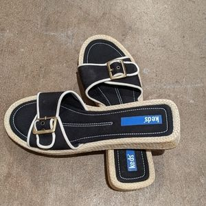Ked's slip-on sandals black NWOT adjustable strap